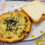 ロリアン - きのこピザ、クリームサンド