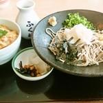 42165967 - 桜島鶏の親子丼セット(1,026円)