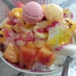 高雄婆婆冰 - 超級水果牛奶冰(95NT$≒約380円)