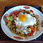 42173615 - 横手やきそば、「ホルモン玉子野菜 並 (750円)」で注文!