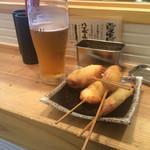 カドヤ - ハッピーアワー500円 エビス+串揚げ4本