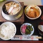 とんかつ 三条 - 釜うどん定食(2015年9月)