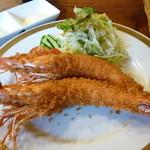 洋食春 - 有頭エビフライ単品