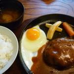 洋食春 - ハンバーグセット