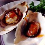 石田家 - サービスの一品『牡蠣の甘味噌かけ?』