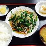 品香園 - ニラ野菜炒め定食(名前違うかもしれません)