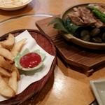 42179292 - ポテト、もみじ豚の石焼きステーキ1000円