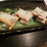 囲炉裏料理と日本酒スローフード 方舟 - 手作りのかまぼこ