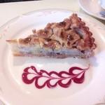 食房エスト - バナナとクルミのタルト