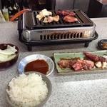 42182974 - 焼肉ラーメン定食(1200円)の焼肉