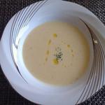 フランス料理 Kimishima  - 【スープ】 モチ米の香り漂う野菜のポタージュ