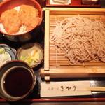きやり - そばとタレひれかつ丼セット(2015年9月)
