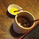 小椿 - 料理写真:ソースとカラシ