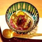 42188795 - 湯葉と海老 枝豆のソース