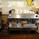 アロバー - 料理写真:250万円の珈琲抽出機