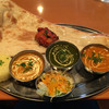 アバンティ - 料理写真:パワーセット (シーフード、マッシュルームホウレンソウ、マトン)