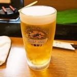 すしぎん - 生ビール