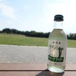 道の駅源平の里むれ 物産品コーナー - ドリンク写真:オリーブサイダー