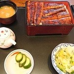 鰻作 - オープン記念寿メニューの、大蒲焼重(4800円)
