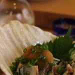 42192656 - 炙り秋刀魚のポン酢和え