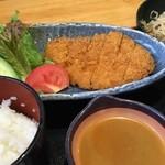 42193946 - ゆず味噌とんかつ定食¥1050