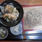 手打ちそば松竹 - 天丼セット 1000円