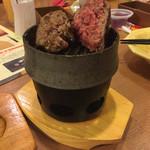 ビッグ ボーイ - 焼いていて、鉄板?網?に肉がひっつかないことだけは、褒めてあげたいです。