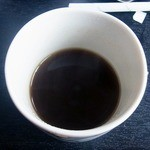 そば屋 - サービスの、そば湯でいれたコーヒー
