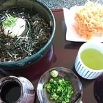 パノラマテラス 海の庭 - 桜海老のかき揚おろし蕎麦 1,120円