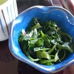 パノラマテラス 海の庭 - 海藻サラダがセットされています