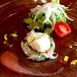 淡路のビストロ manki - 前菜は淡路産野菜とシラスでした( ̄▽ ̄)