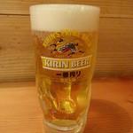海鮮屋台 おくまん - 生ビール:302円