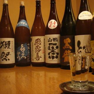 厳選地酒25種以上ございます!
