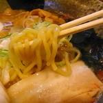 つけ麺 素家 - 中太麺、多加水方向♪