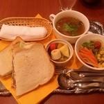 菊竹珈琲堂 - サンドイッチセット