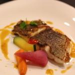 レネ - 2015年10月 コショウ鯛のソテー お魚ソースで。