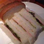 42206293 - セットのサンドイッチ‼︎ハムサンド