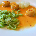 レストラン エピファニー - オホーツクの帆立貝、アメリケーヌソース