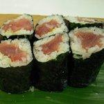 六五寿司 - 上定食の鉄火巻