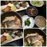 遊食彩旬 乃'SAN - 【期間限定ランチ】秋刀魚三枚・ご飯/刺身・なめろう・蒲焼