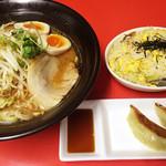 はるや - 料理写真:あっさり味噌&ランチセット(半チャーハン・餃子2個)