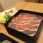 くつろぎブッフェ 森のめぐみ - 豚肉のしゃぶしゃぶと野菜