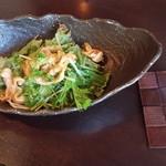 おきな和料理 島々 - ミミガーサラダ。 食べた事なかった(∩´∀`∩)