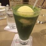 42237416 - 緑茶青汁フロート