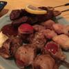 おおしば 福生店 - 料理写真:牛大串、トマト巻き、鶏モモ。