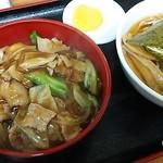 42242552 - 中華丼ラーメンセット