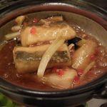 42243576 - 白身魚と茄子のハムユイ煮込み