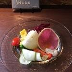 トラットリア・ノブ - Bコース1600円、前菜から野菜のバーニャカウダです。