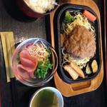 カトレア - 料理写真:がバイハンバーグ  680円
