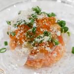 ロティスリー カルトポスタル - 鱒の卵とイカ クスクスのせ